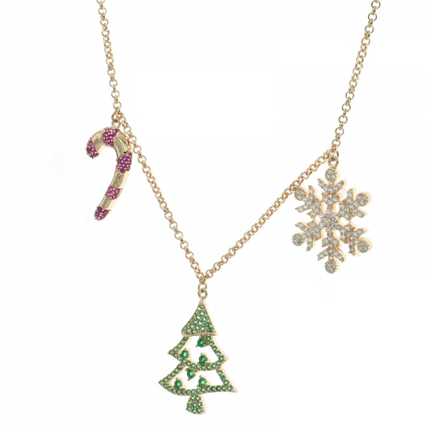 China 925 Sterling Silver Christmas Ladies Necklace