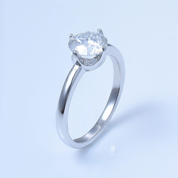 925 Sterling Silver Engagement Solitaire Ring For Ladies