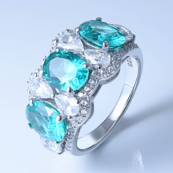 925 Sterling Silver Ring With Special Paraiba YAG For Women