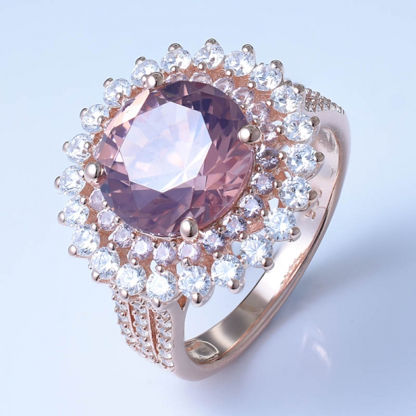925 Sterling Silver Graceful Ring With Morganite Nano