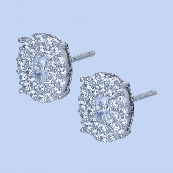 925 Sterling Silver Earrings With White CZ